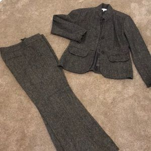 Wool two piece tweed suit
